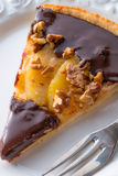 Pears chocolate tart Stock Photography