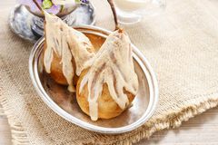 Pears with cinnamon sauce Royalty Free Stock Image