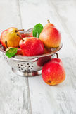 Pears in a colander Stock Image