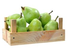 Pears in crate Royalty Free Stock Photos