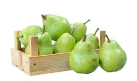 Pears in crate Royalty Free Stock Image