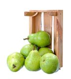 Pears in crate Stock Image