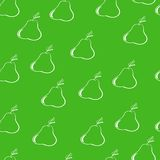 Pears on a dark green backgroundΠRoyalty Free Stock Image