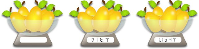 Pears diet Royalty Free Stock Image