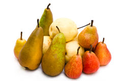 Pears of different grades Stock Images
