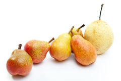Pears of different grades Royalty Free Stock Photo