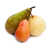 Pears of different grades Royalty Free Stock Photos
