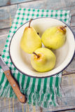 Pears in dish Royalty Free Stock Image
