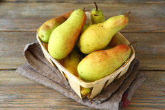 Pears in a drawer Stock Image