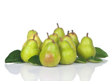 Pears Eleven Fresh Group Stock Photos