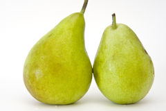 Pears family. Isolated on white background Royalty Free Stock Photography