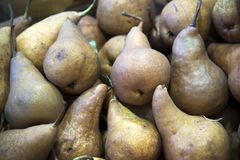 Pears at the Farmer`s market royalty free stock photography