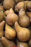 Pears at the Farmer`s market stock images