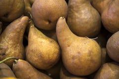 Pears at the Farmer`s market stock photo