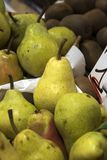 Pears at the Farmer`s market royalty free stock image