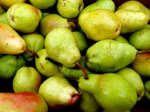 Pears. Farmers market  fresh pears for sale Stock Photos