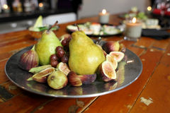 Pears and figs Royalty Free Stock Image