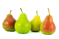 Pears. Four large pear isolated on a white background Stock Photo