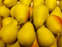 Pears. Fresh beautiful pears en yellow and red colours Stock Photography