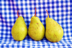 Pears. Fresh organic pears on the vintage background Royalty Free Stock Image