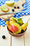 Pears. Fresh and tasty pears in a bowl Royalty Free Stock Image
