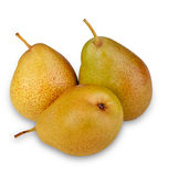Pears in front of white background Stock Image