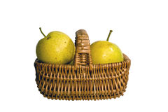 Pears in a fruit basket Royalty Free Stock Images