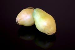 Pears fruit isolated on black background Stock Image