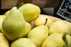 Pears in fruits & vegetables shop. Pears in fruits and vegetables shop Royalty Free Stock Photos