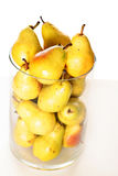 Pears in a glass jar closeup. Shot of pears in a glass jar closeup Royalty Free Stock Photos