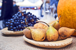 Pears and grapes Royalty Free Stock Image