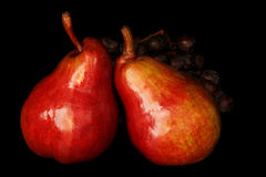 Pears and Grapes Stock Photos