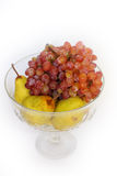 Pears and grapes. Royalty Free Stock Image