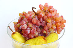 Pears and grapes. Stock Photos