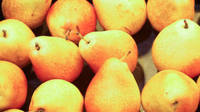 Pears in grocery.defocused background. Close up Stock Photo
