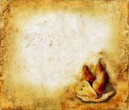 Pears on a grunge background Stock Images