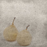 Pears on grunge paper Royalty Free Stock Photos