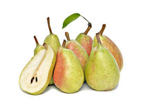 Pears and half Royalty Free Stock Photography