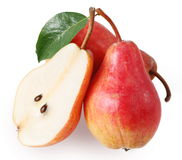 Pears and half of pear royalty free stock photo