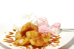 Pears and ice-cream Royalty Free Stock Photography