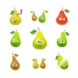Pears icon set Stock Photography
