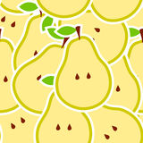 Pears  illustration seamless pattern Royalty Free Stock Image