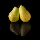 Pears isolated on a black background Stock Image