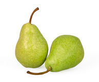 Pears isolated on white. Background with clipping path Stock Photos