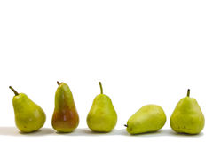 Pears. On isolated white background Royalty Free Stock Photo