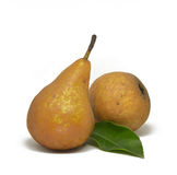Pears isolated on white. Background Royalty Free Stock Photo
