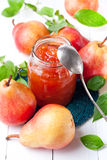 Pears jam Stock Photo