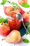 pears jam Stock Photo