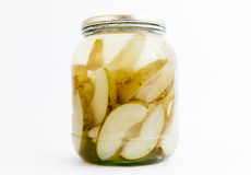 Pears jar Royalty Free Stock Images