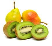 Pears and kiwi 7 Stock Images